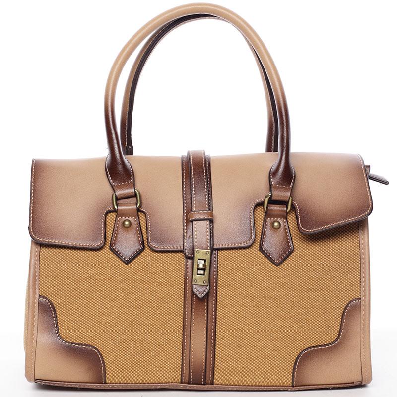 Trendy dámská kabelka do ruky žlutá - MARIA C Delmare