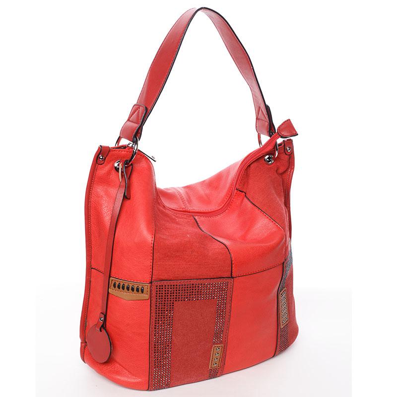 Stylová dámská kabelka přes rameno červená - MARIA C Laverne