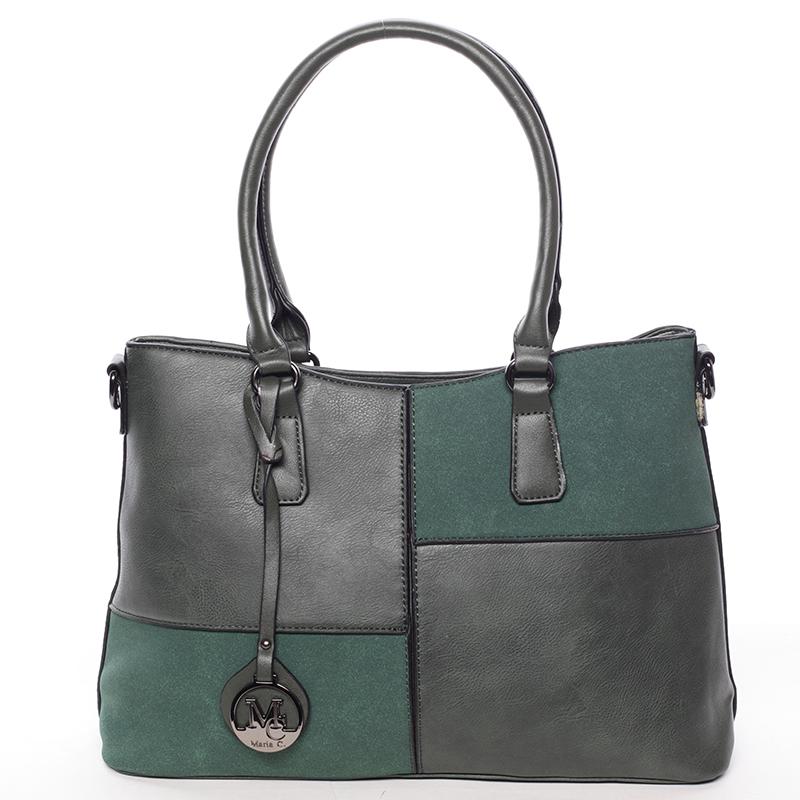 Kvalitní dámská kabelka přes rameno zelená - MARIA C Evangelina