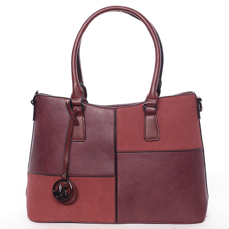 Kvalitní dámská kabelka přes rameno vínová - MARIA C Evangelina