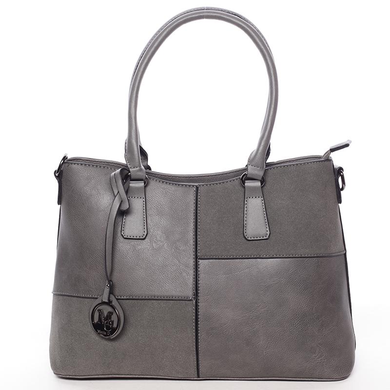 Kvalitní dámská kabelka přes rameno šedá - MARIA C Evangelina
