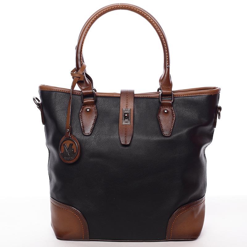 Elegantní větší dámská kabelka přes rameno černá - MARIA C Evangela
