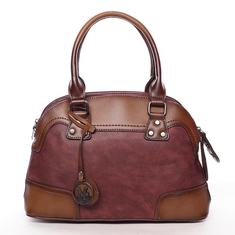 Originální dámská kabelka do ruky vínová - MARIA C Eudosia