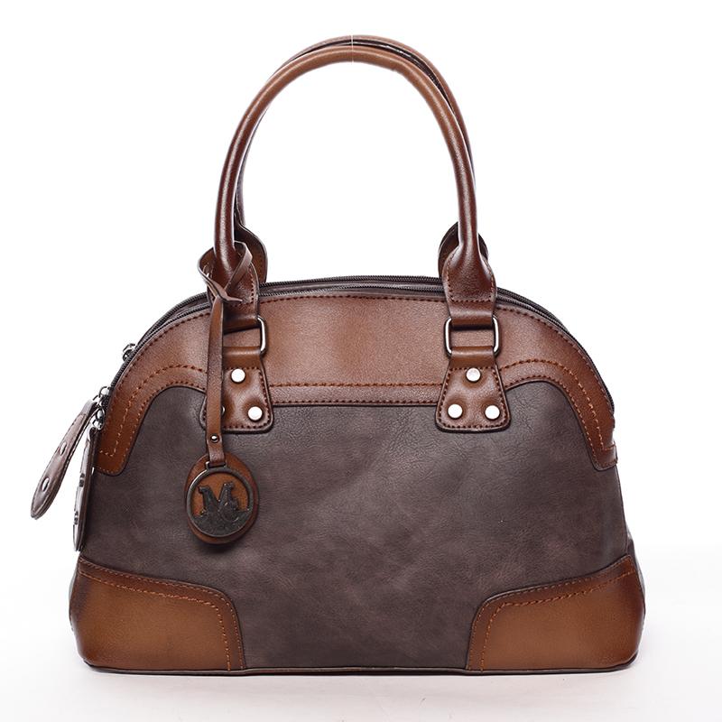 Originální dámská kabelka do ruky kávově hnědá - MARIA C Eudosia
