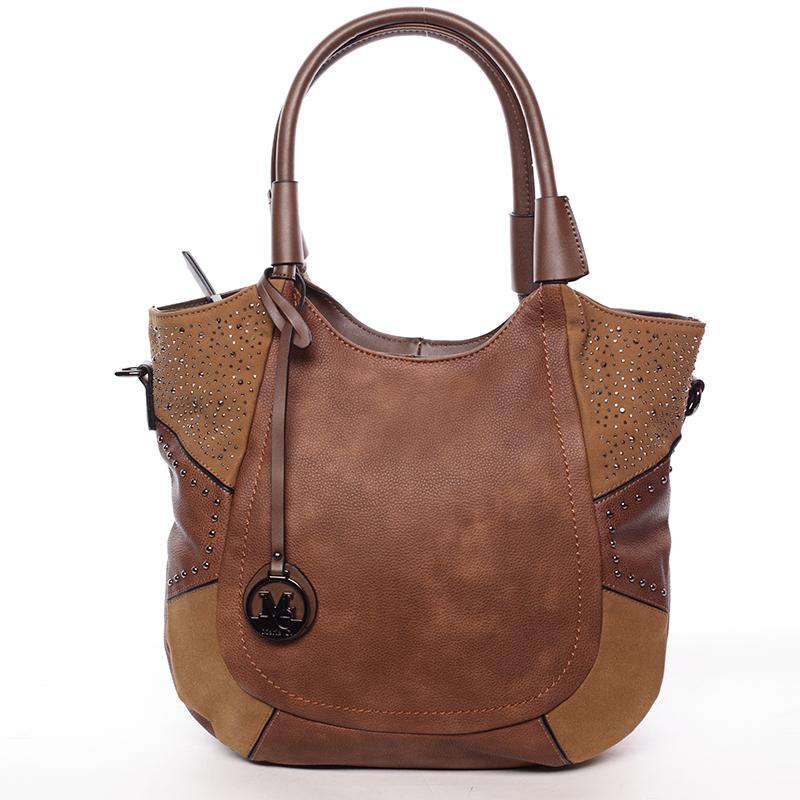 Dámská módní kabelka přes rameno kávově hnědá - MARIA C Euphrosyne