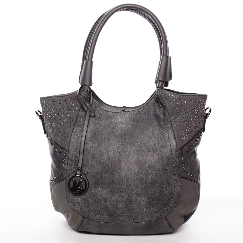 Dámská módní kabelka přes rameno šedá - MARIA C Euphrosyne