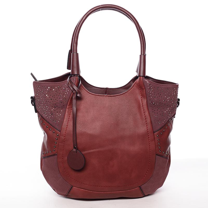 Dámská módní kabelka přes rameno vínová - MARIA C Euphrosyne