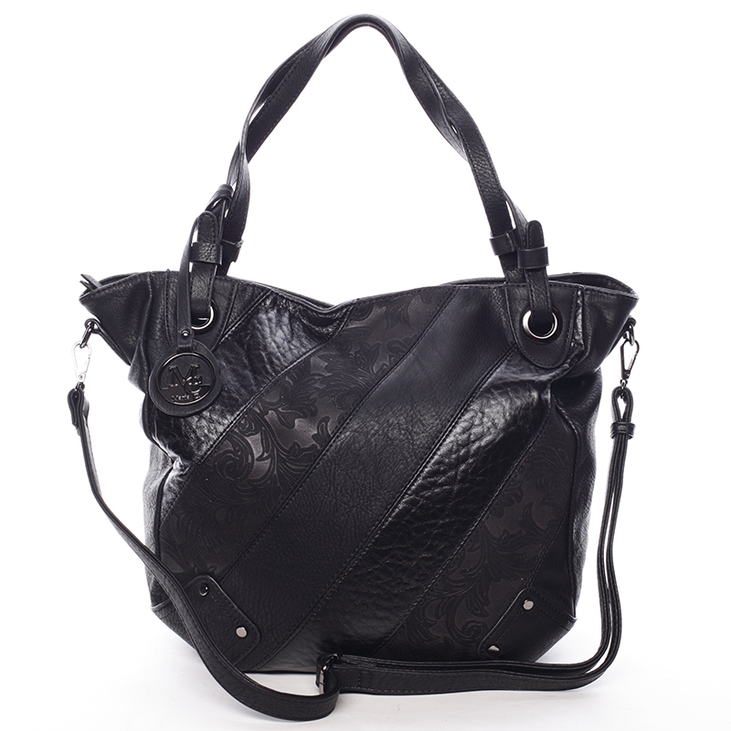 Dámská elegantní kabelka černá se vzorem - Maria C Eirene