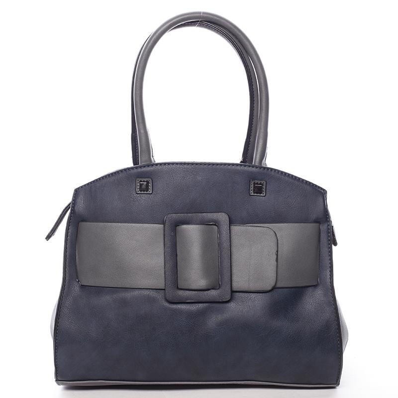 Luxusní tmavě modrá dámská kabelka do ruky - MARIA C Erasto