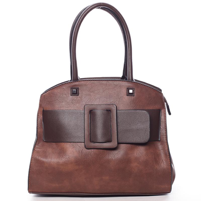 Luxusní hnědá dámská kabelka do ruky - MARIA C Erasto