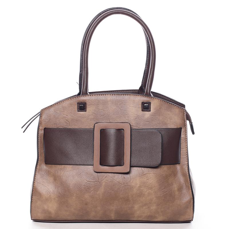 Luxusní světle hnědá dámská kabelka do ruky - MARIA C Erasto