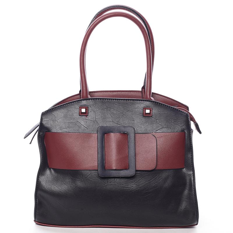 Luxusní černo červená dámská kabelka do ruky - MARIA C Erasto