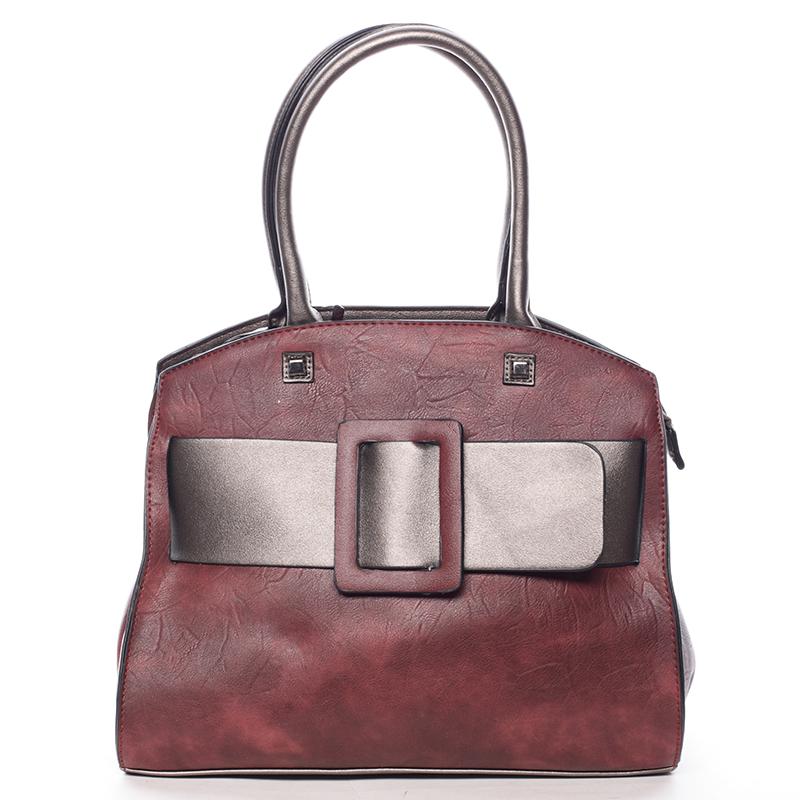 Luxusní vínová dámská kabelka do ruky - MARIA C Erasto