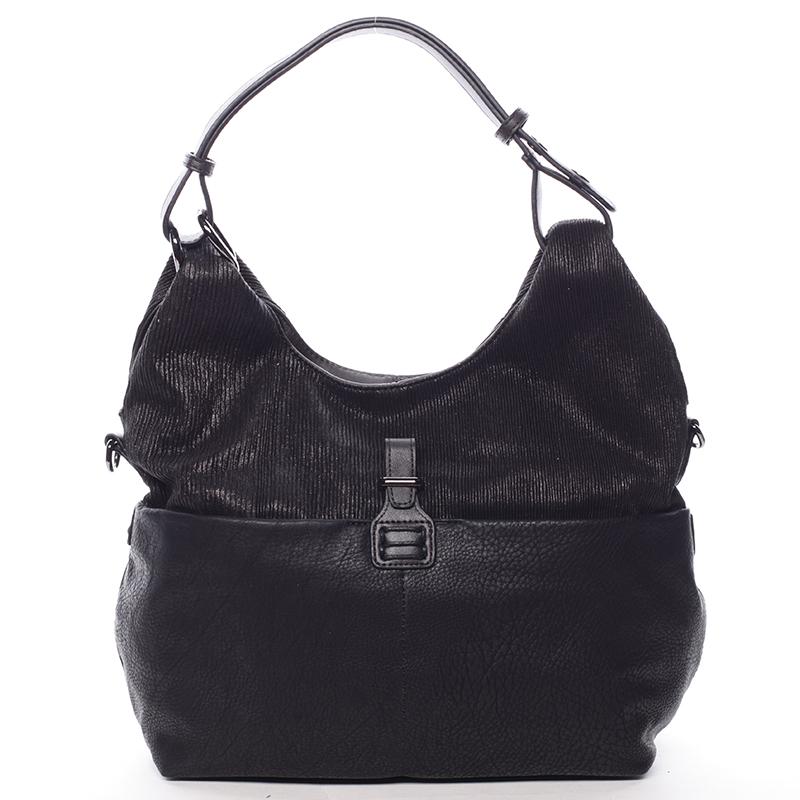Trendy dámská kabelka přes rameno černá - MARIA C Eleni