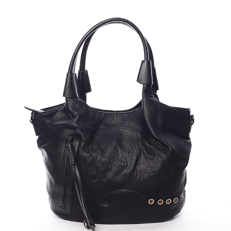 Atypická dámská černá kabelka přes rameno - Maria C Elefteria