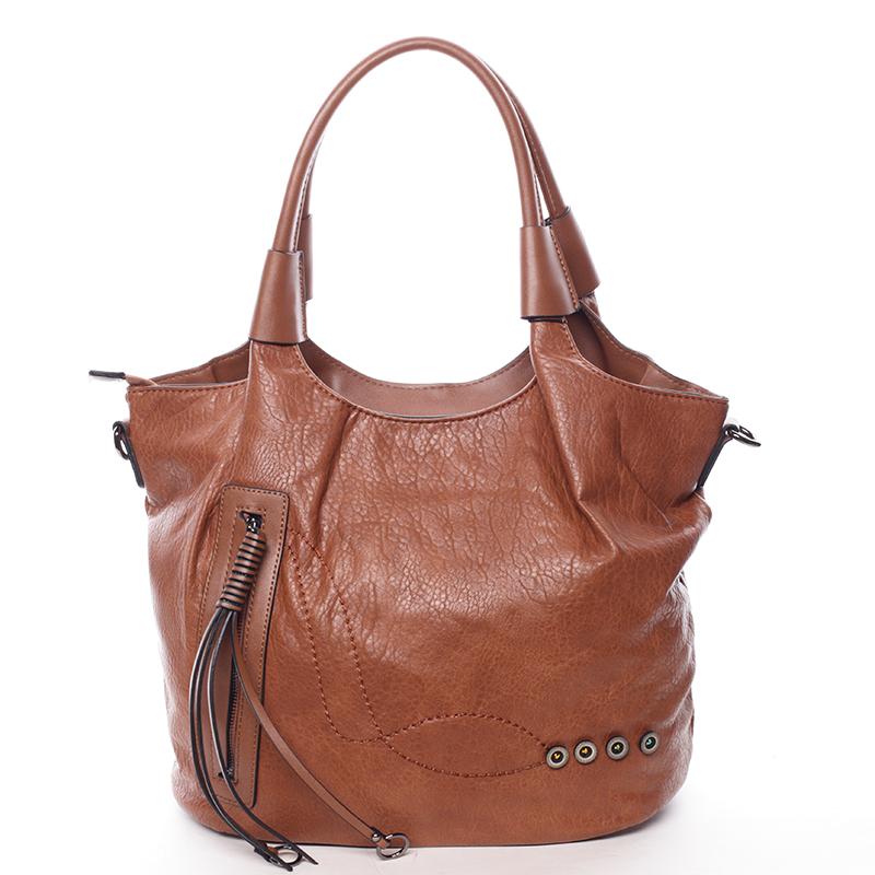 Atypická dámská hnědá kabelka přes rameno - Maria C Elefteria