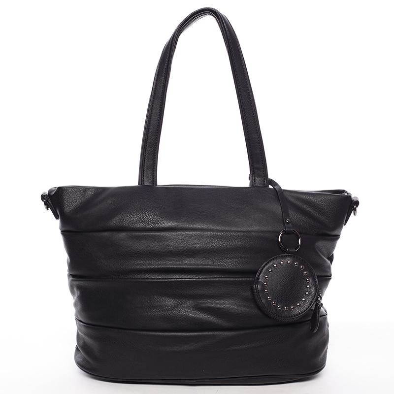 Módní dámská kabelka přes rameno černá - MARIA C Eurynome