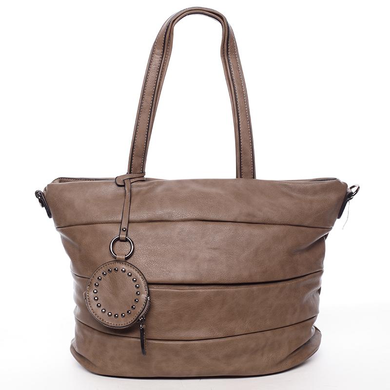 Módní dámská kabelka přes rameno světle hnědá - MARIA C Eurynome