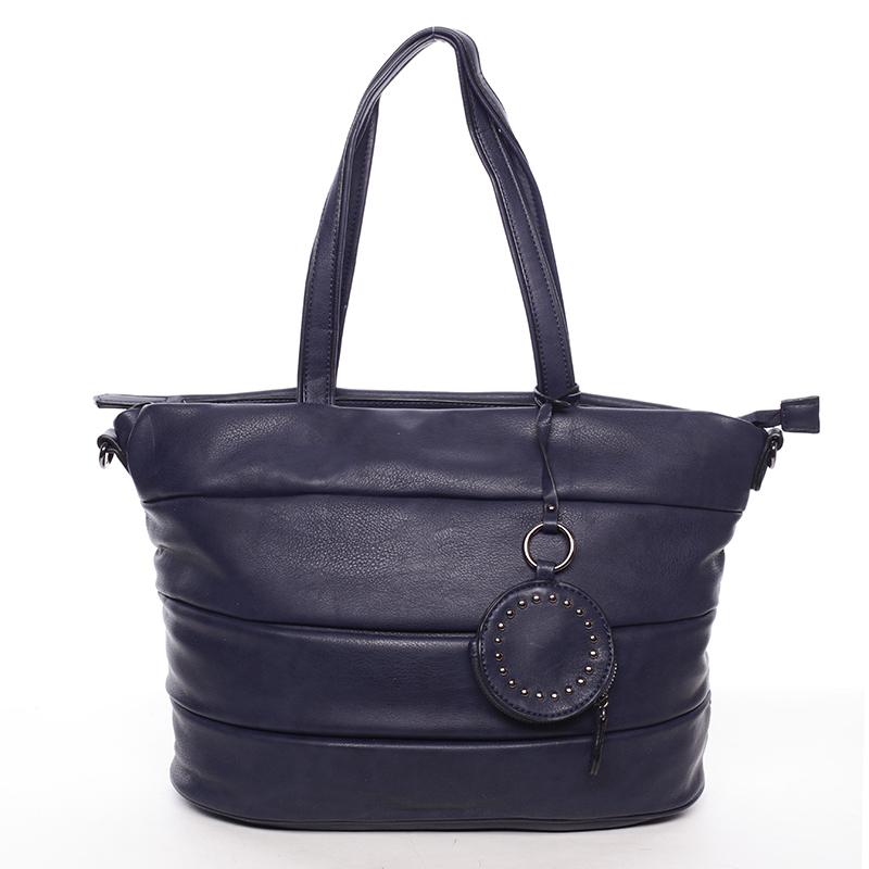 Módní dámská kabelka přes rameno tmavě modrá - MARIA C Eurynome