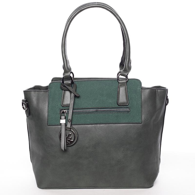 Elegantní dámská kabelka přes rameno tmavě zelená - MARIA C Eleana