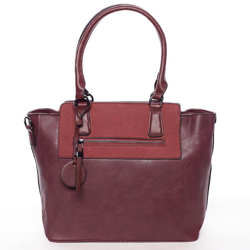 Elegantní dámská kabelka přes rameno vínová - MARIA C Eleana