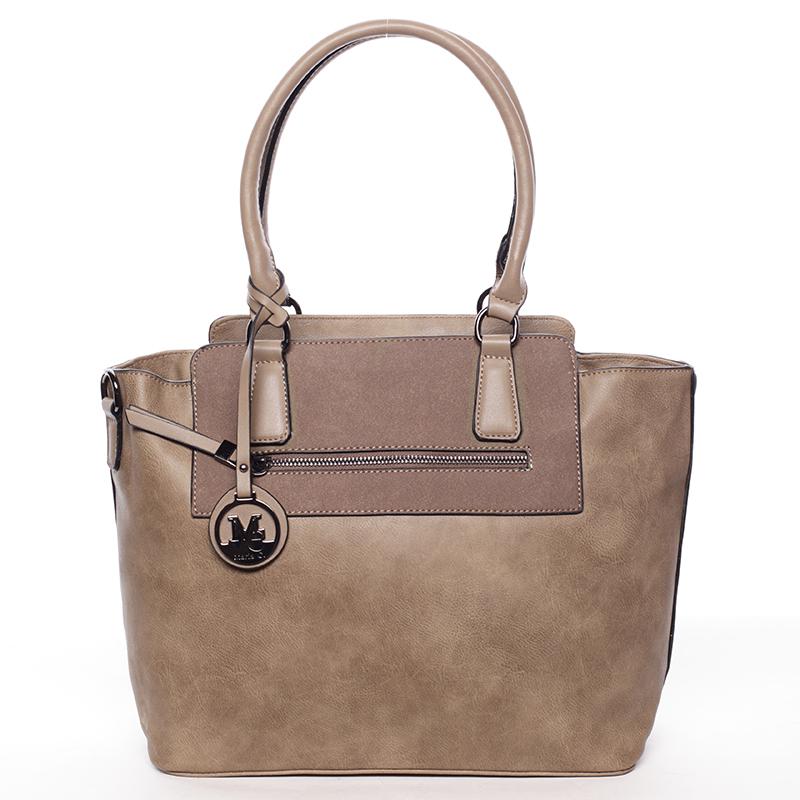 Elegantní dámská kabelka přes rameno khaki - MARIA C Eleana