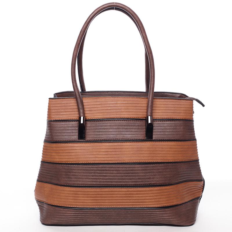 Módní dámská kabelka přes rameno kávově hnědá - MARIA C Elaina