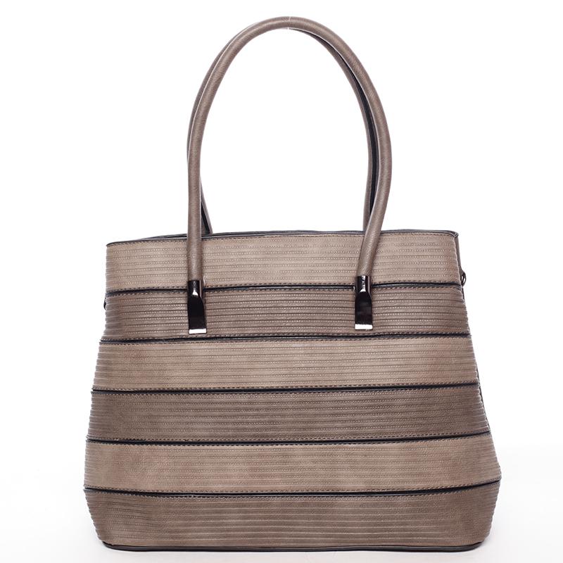 Módní dámská kabelka přes rameno tmavá písková - MARIA C Elaina