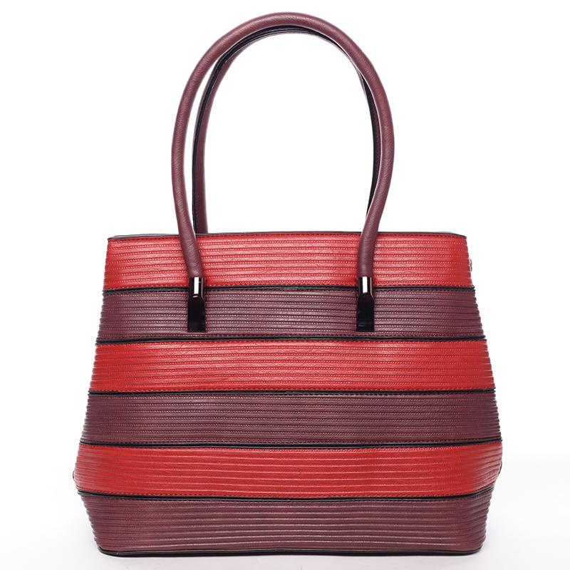 Módní dámská kabelka přes rameno tmavě červená - MARIA C Elaina