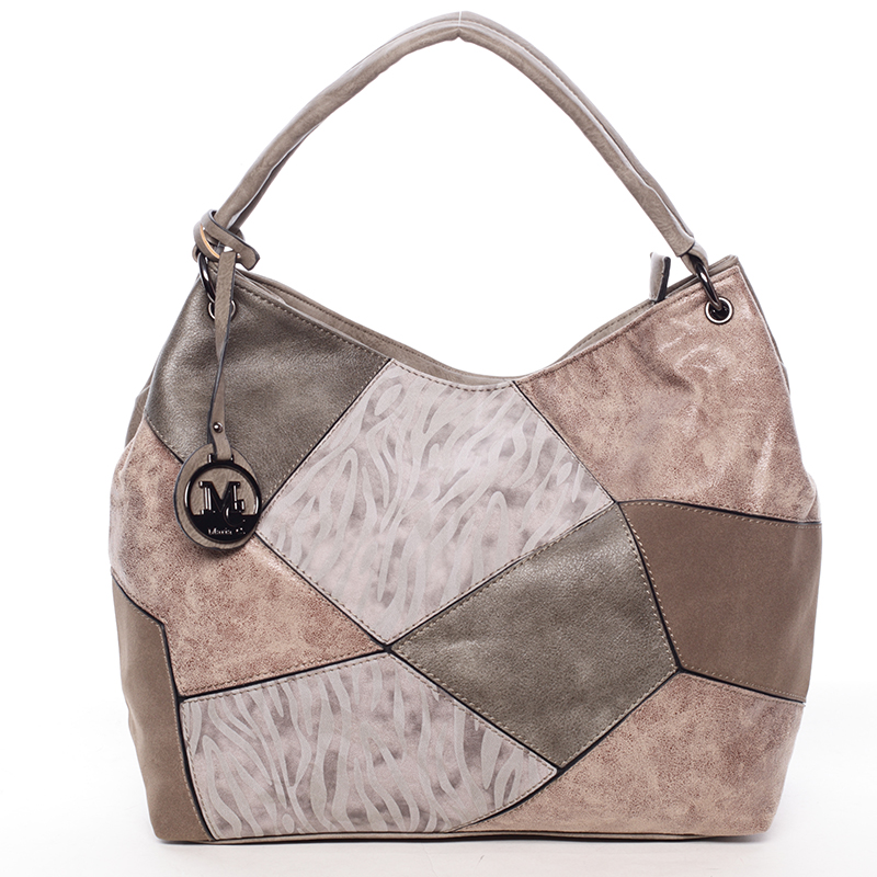 Dámská luxusní kabelka taupe - Maria C Eidothea