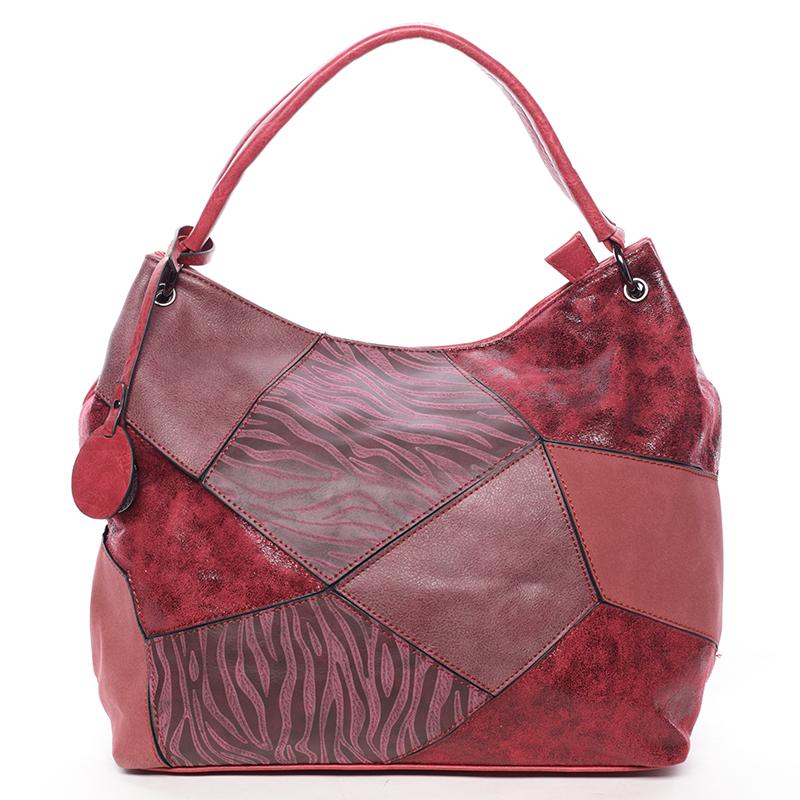 Dámská luxusní kabelka tmavě červená - Maria C Eidothea