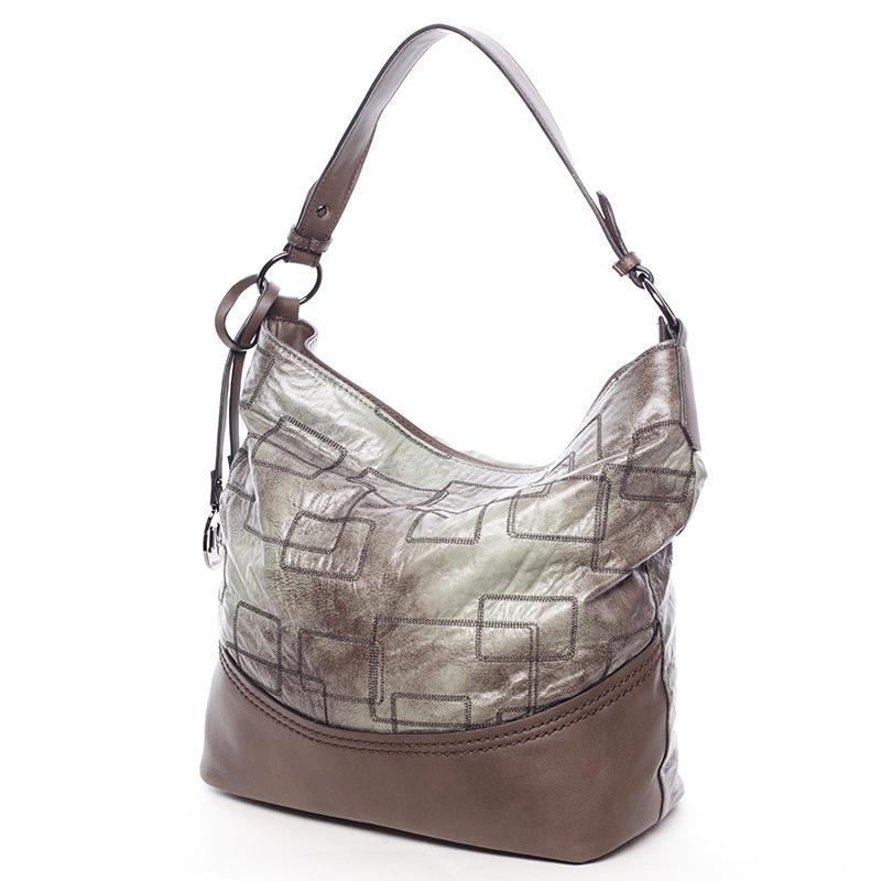 Nadčasová dámská kabelka přes rameno zelená - MARIA C Elianne