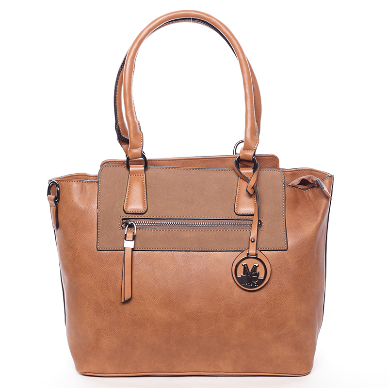 Elegantní dámská kabelka přes rameno hnědá - MARIA C Eleana
