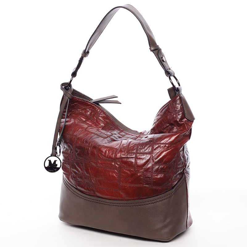 Nadčasová dámská kabelka přes rameno tmavě červená - MARIA C Elianne