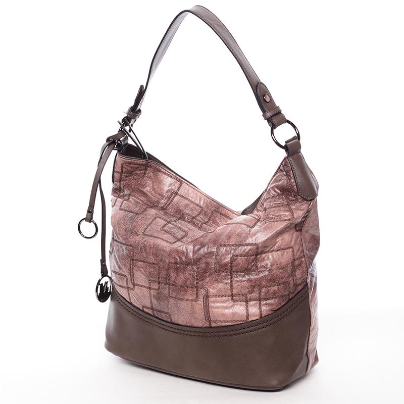 Nadčasová dámská kabelka přes rameno tmavá meruňková - MARIA C Elianne