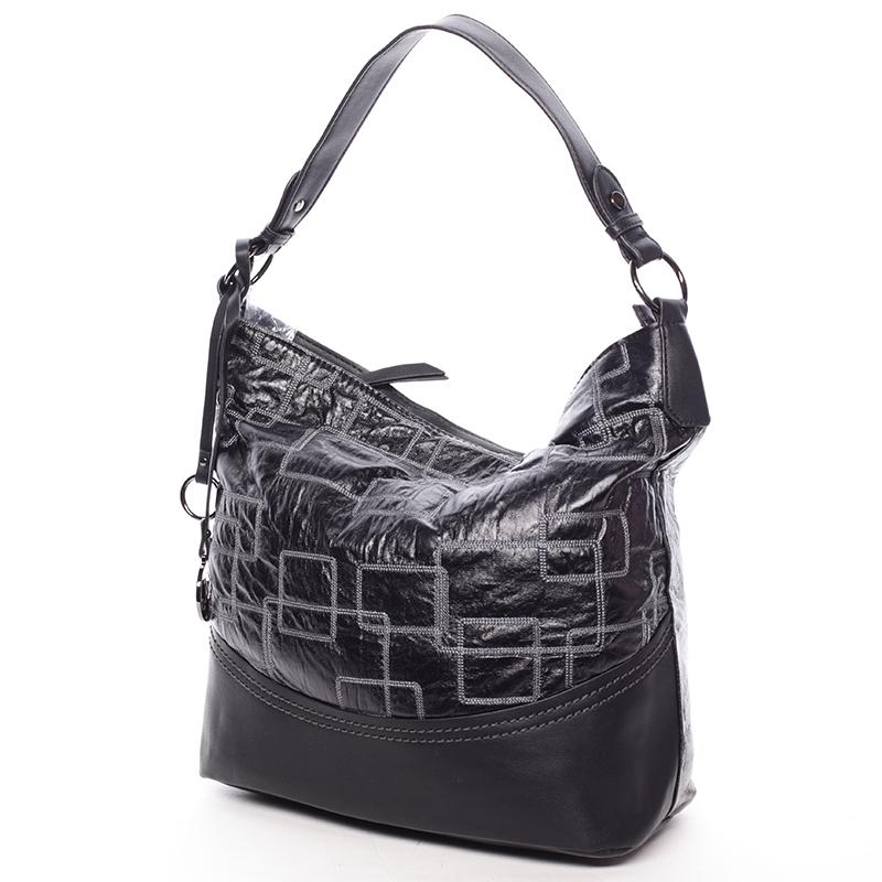 Nadčasová dámská kabelka přes rameno černá - MARIA C Elianne