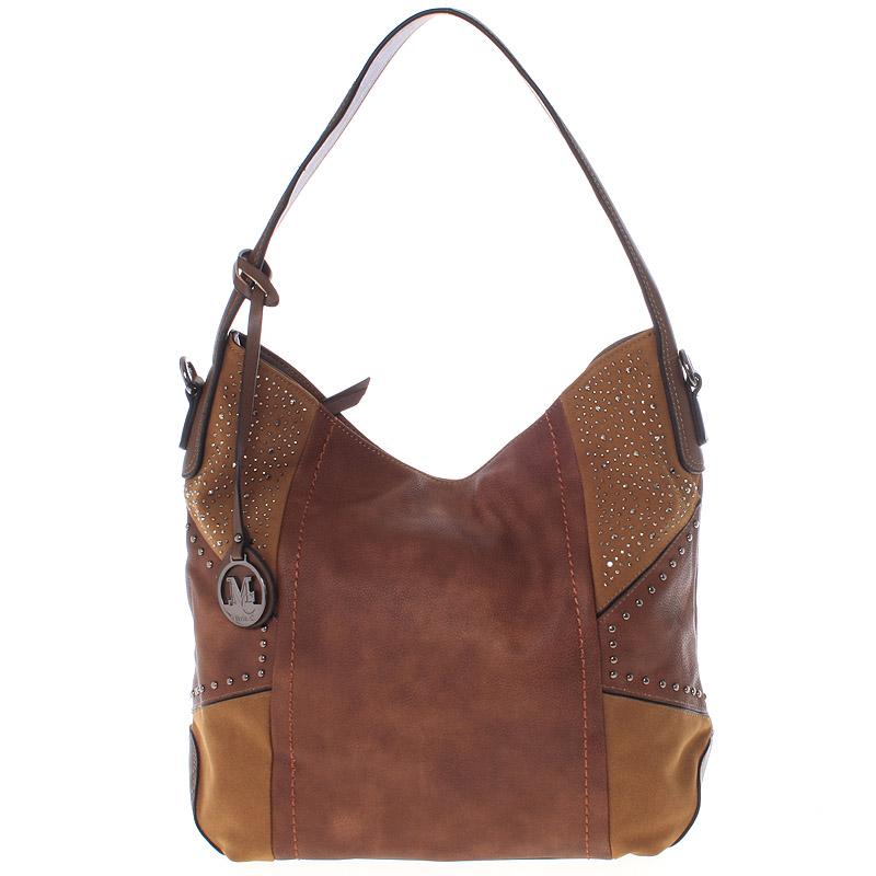 Dámská originální kabelka přes rameno hnědá - MARIA C Ecaterina