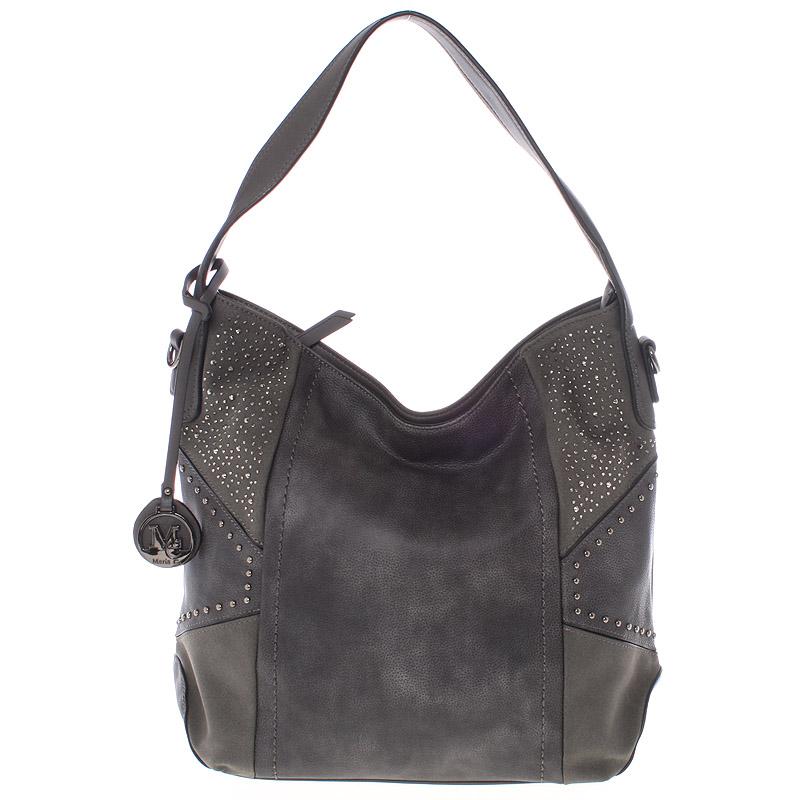 Dámská originální kabelka přes rameno šedá - MARIA C Ecaterina