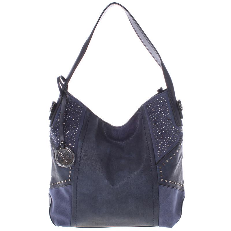 Dámská originální kabelka přes rameno tmavě modrá - MARIA C Ecaterina