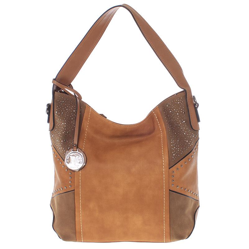 Dámská originální kabelka přes rameno žlutá - MARIA C Ecaterina