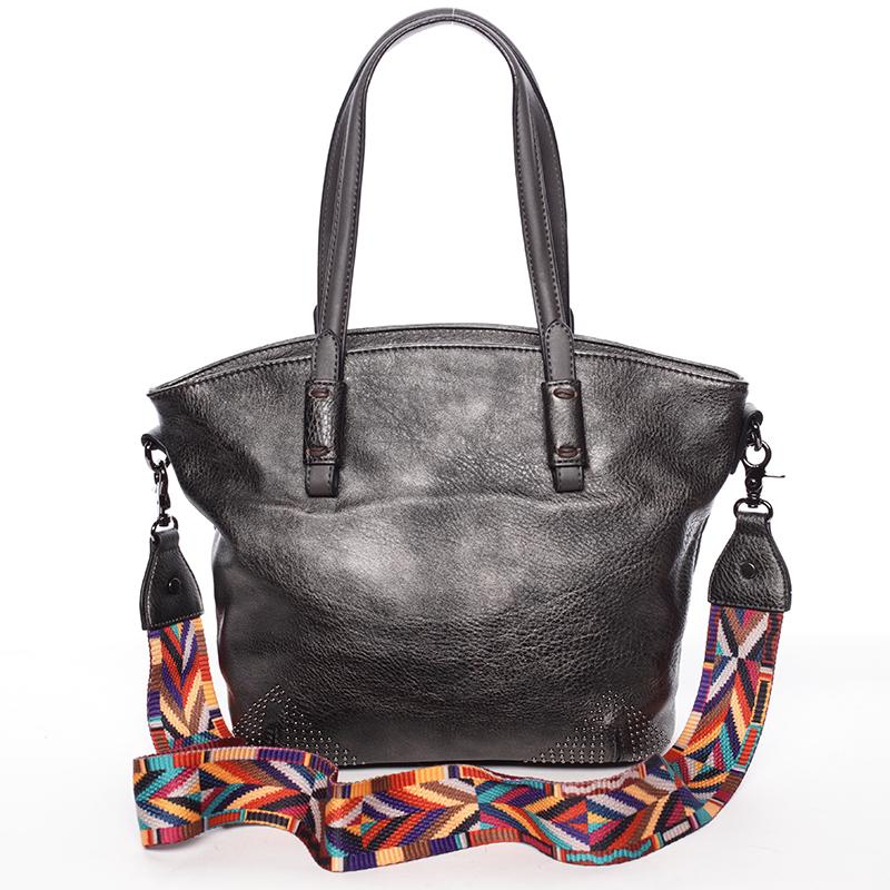 Jemná elegantní dámská stříbrná kabelka - Maria C Grete