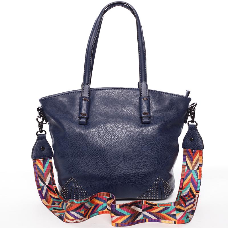 Jemná elegantní dámská tmavě modrá kabelka - Maria C Grete