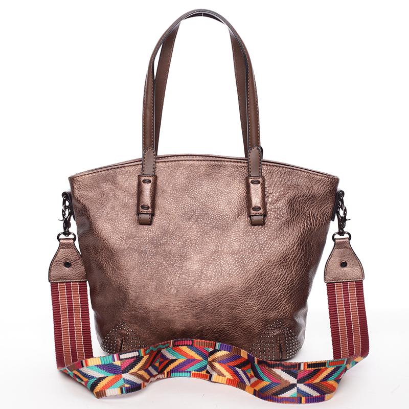 Jemná elegantní dámská bronzová kabelka - Maria C Grete