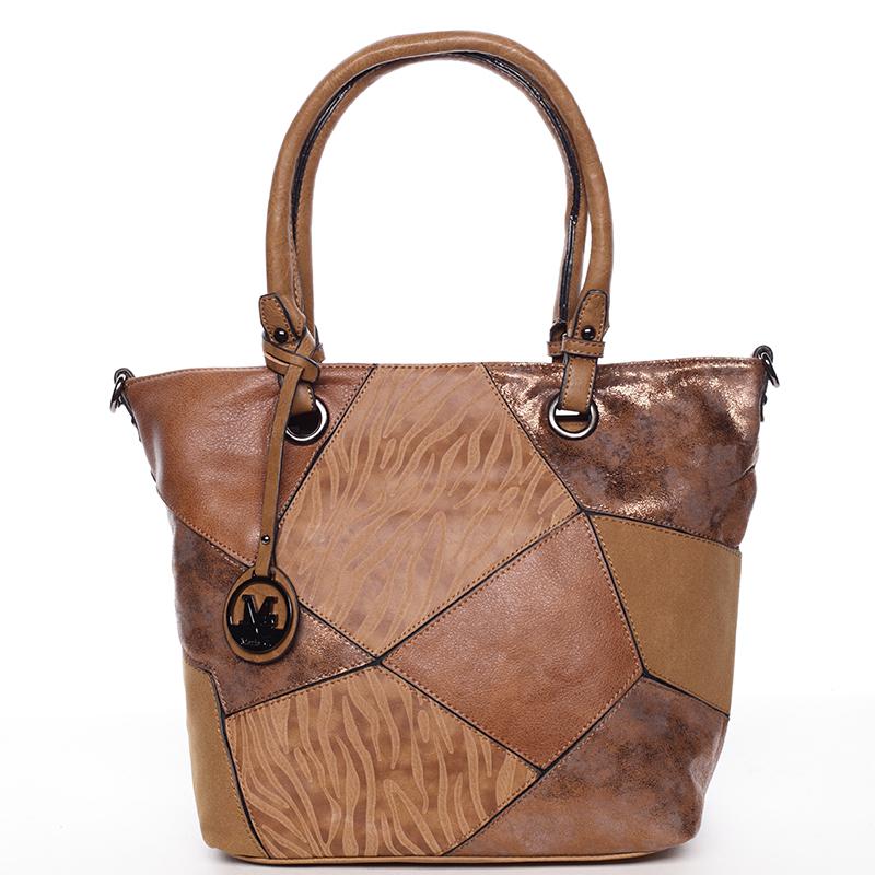 Dámská originální větší kabelka hnědá - Maria C Eufemia