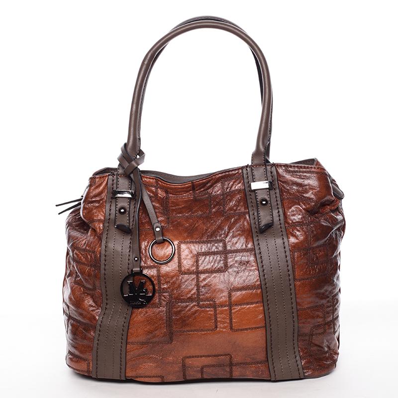Nadčasová dámská kabelka přes rameno hnědá - MARIA C Hagne