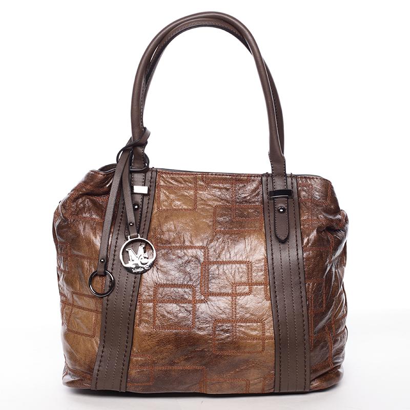 Nadčasová dámská kabelka přes rameno kávově hnědá - MARIA C Hagne