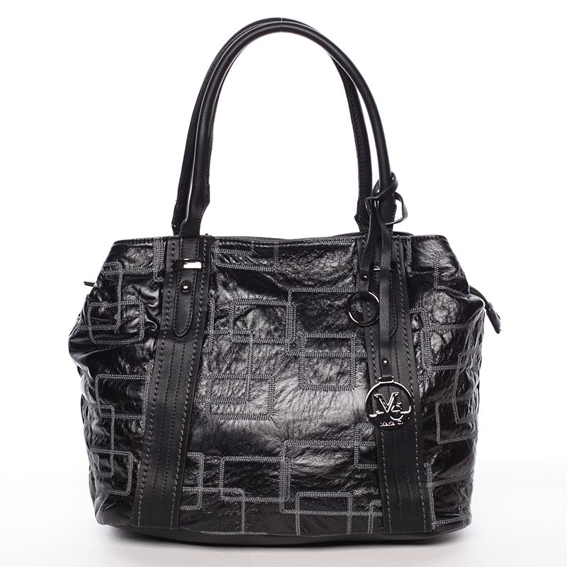 Nadčasová dámská kabelka přes rameno černá - MARIA C Hagne