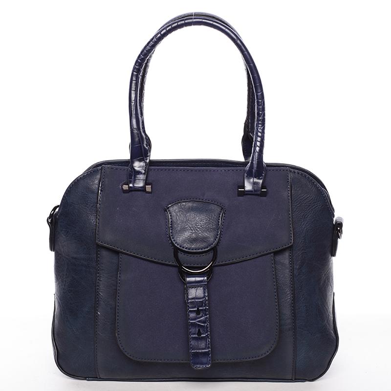 Elegantní tmavě modrá dámská kabelka do ruky - Maria C Europa