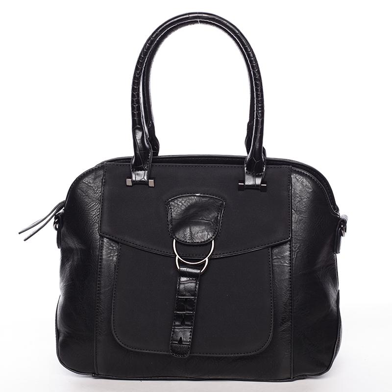 Elegantní černá dámská kabelka do ruky - Maria C Europa