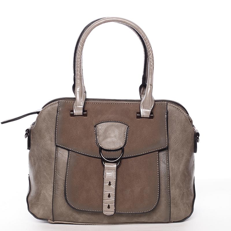 Elegantní khaki dámská kabelka do ruky - Maria C Europa